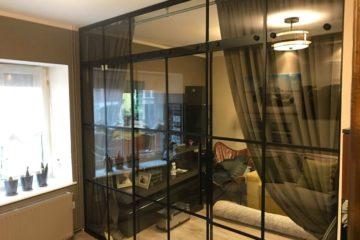 Lofty - ściany ze szkła